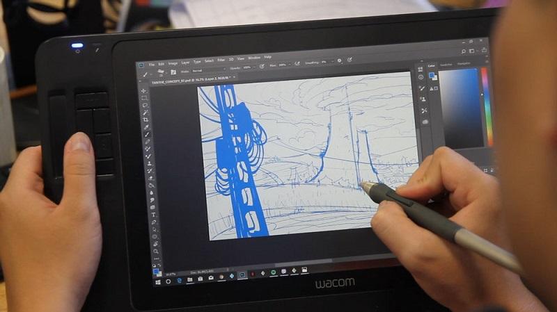Đa số công đoạn đều được thực hiện trên các thiết bị công nghệ đồ họa