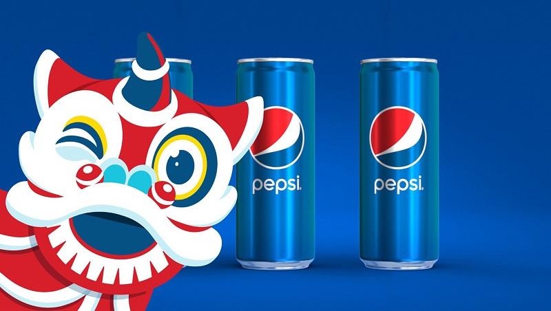 Đồ họa đáng yêu trong chiến dịch quảng cáo của Pepsi